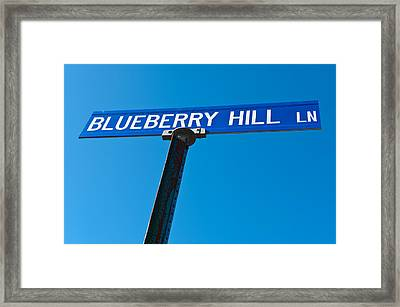 Blueberry Hill Sign Framed Print by Steve Gadomski
