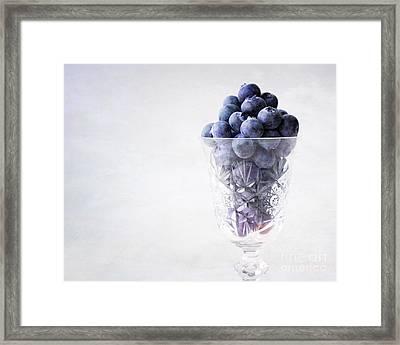 Blueberry Wine Framed Print