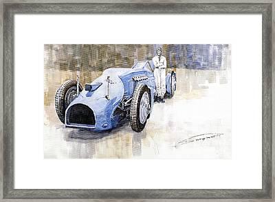 Bluebird 1933 Daytona Malkolm Campbell Framed Print by Yuriy  Shevchuk