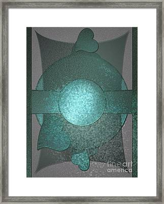 Bluecards Framed Print