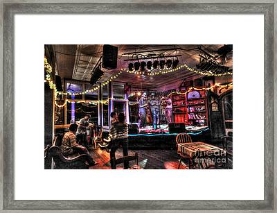 Bluegrass Band Playing Framed Print by Dan Friend