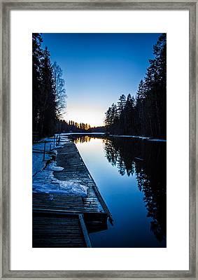 Framed Print featuring the photograph Blueness by Matti Ollikainen