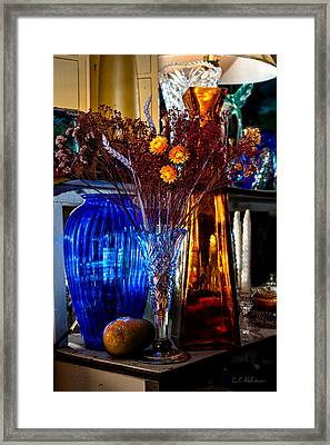 Blues And Ambers Framed Print by Christopher Holmes