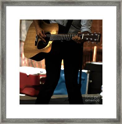 Blues At Work Framed Print by Steven Digman