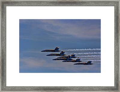 Framed Print featuring the photograph Blues by David Gleeson