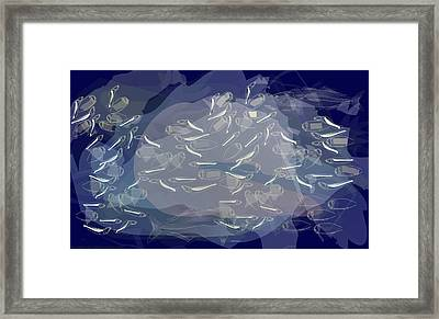 Blues Frenzy Framed Print by Diallo House