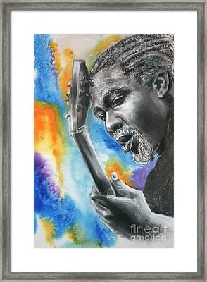 Blues Guitar 1 Framed Print