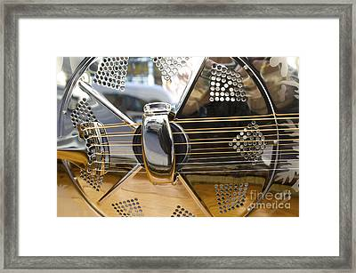 Blues Guitar Framed Print by Ed Rooney