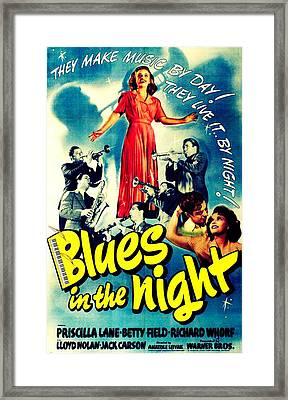 Blues In The Night, Top Framed Print by Everett