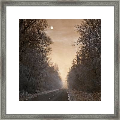 Blues Is The Road Framed Print by Philippe Sainte-Laudy Photography