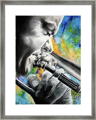 Blues Trombone 1 Framed Print