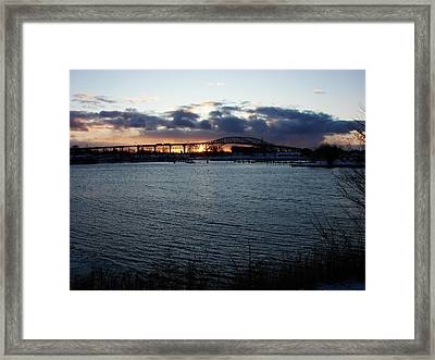 Bluewater Bridges In Winter 1 Framed Print