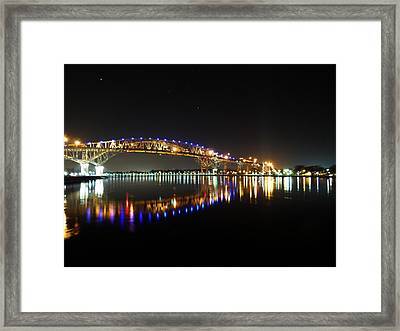 Bluewater Bridges On A Warm Spring Night Framed Print