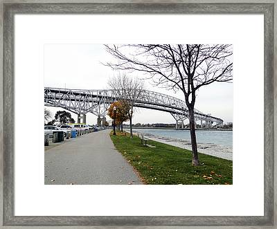 Bluewater Bridges Sarnia Port Huron Framed Print