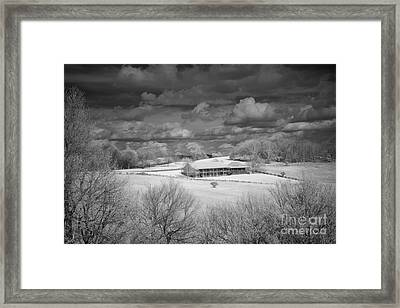 Bluffs Hotel Blue Ridge Parkway Framed Print by Dan Carmichael