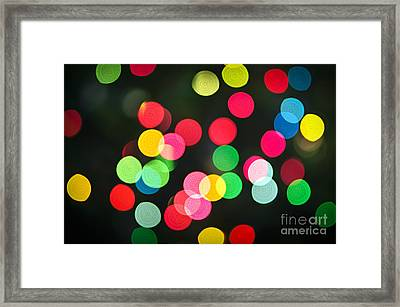 Blurred Christmas Lights Framed Print by Elena Elisseeva