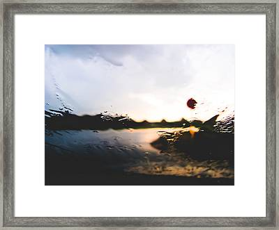 Blurry Stop Framed Print