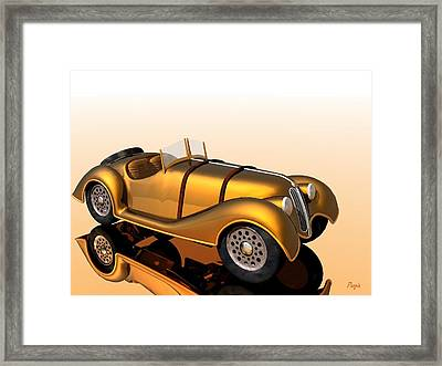 Framed Print featuring the digital art Bmw Roadster by John Pangia
