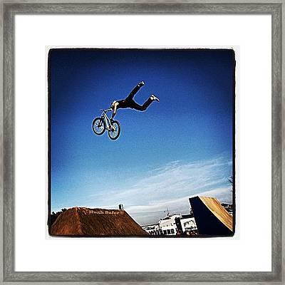 Bmx O Marisquiño 2011 #bmx #boy #jump Framed Print