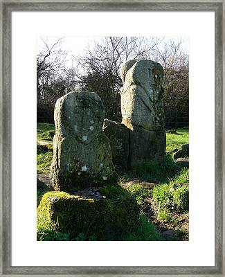 Boa Island Figures Framed Print by Cat Shatwell