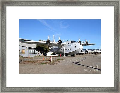 Boac British Overseas Airways Corporation Speedbird Flying Boat . 7d11249 Framed Print by Wingsdomain Art and Photography