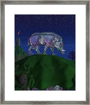 Boar King Framed Print by Diana Morningstar