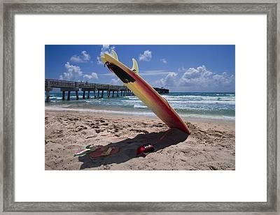 Board Meeting Framed Print by Debra and Dave Vanderlaan