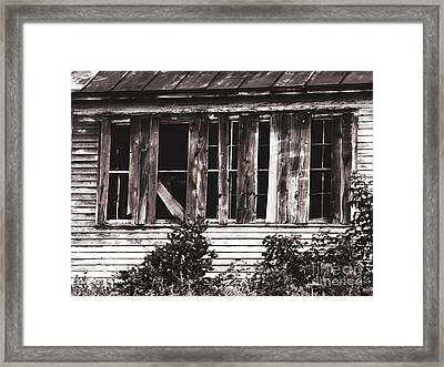 Boarded Up Framed Print by Ms Judi