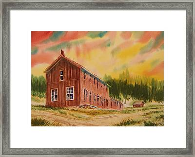 Boardinghouse Cable Ghost Town Montana Framed Print by Kevin Heaney