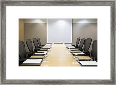 Boardroom Framed Print by Andersen Ross