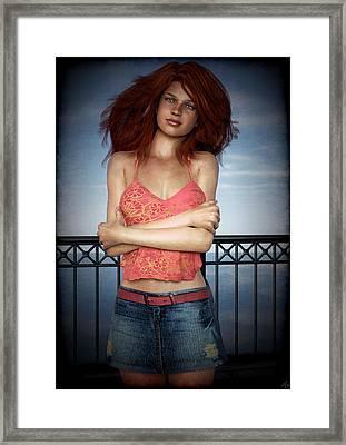 Framed Print featuring the painting Boardwalk Blues by Maynard Ellis
