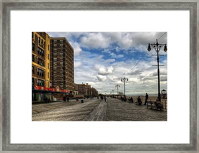 Boardwalk Brooklyn04 Framed Print