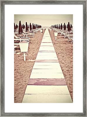 Boardwalk Framed Print by Joana Kruse