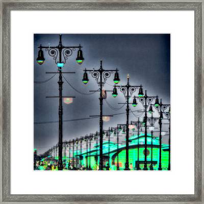 Framed Print featuring the photograph Boardwalk Lights by Chris Lord