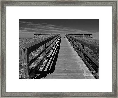 Boardwalk Framed Print by Lin Haring