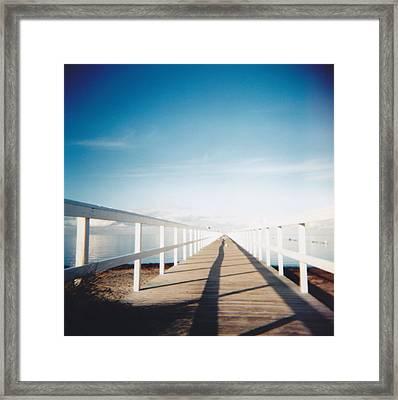 Boardwalk Framed Print by Monica Forss