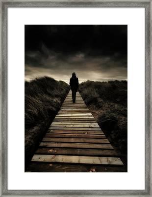 Boardwalk Of Doom Framed Print by Meirion Matthias