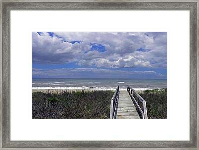 Boardwalk To The Beach Framed Print by Sandi OReilly