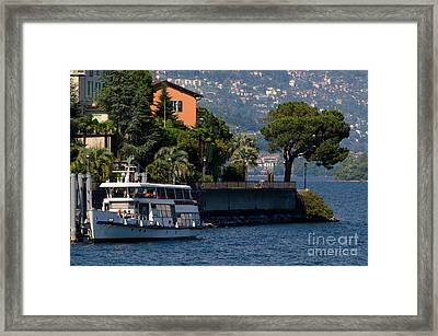 Boat And Tree Framed Print