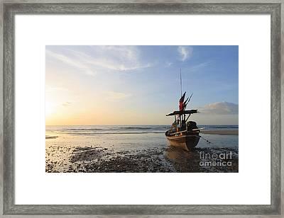 Boat Framed Print by Buchachon Petthanya