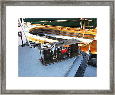 Boat Builders Music Box Framed Print by Kym Backland