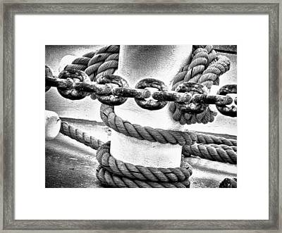 Framed Print featuring the photograph Boat Chain by Kelly Reber
