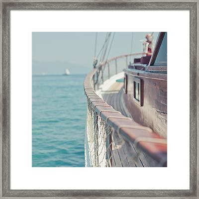 Boat Framed Print by Cindy Prins
