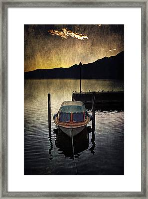 Boat During Sunset Framed Print by Joana Kruse
