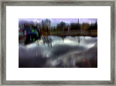 Framed Print featuring the mixed media Boat House I by Terence Morrissey