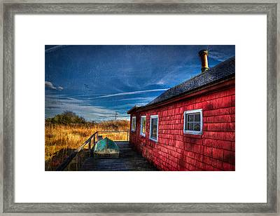 Boat House Framed Print by Michael Petrizzo
