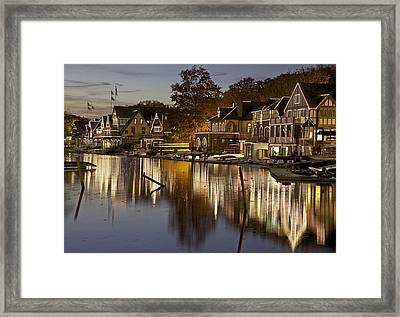 Boat House Row Framed Print by Yaz Allen