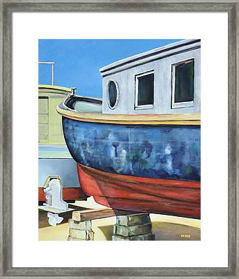 Boat Hull Framed Print by Robert Henne