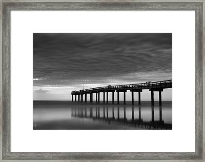 Boat In Clouds Framed Print by David Mcchesney
