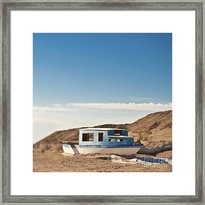Boat In The Desert Framed Print by Eddy Joaquim